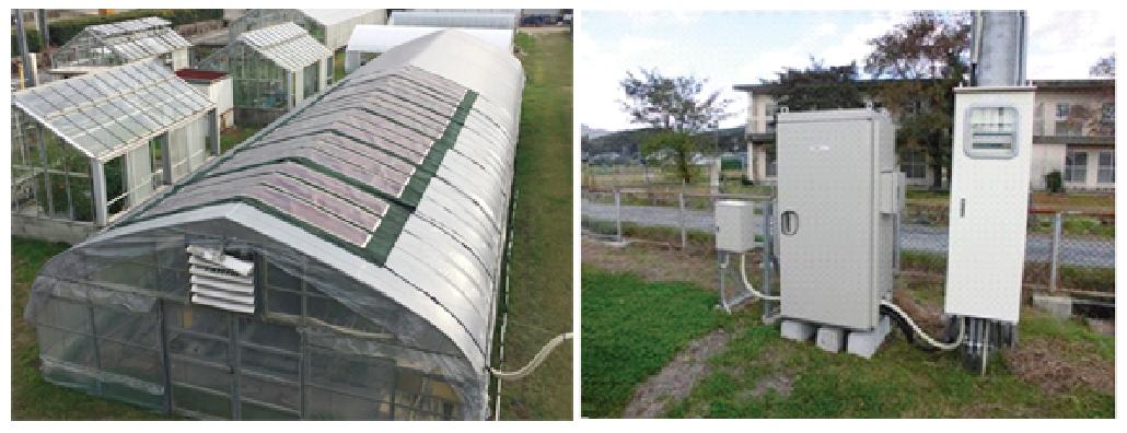 フィルム型太陽光発電と蓄電池を利用した独立電源システム